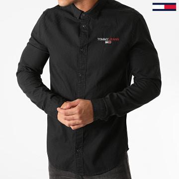 Tommy Jeans - Chemise Manches Longues Textured Stripe Logo 8774 Noir