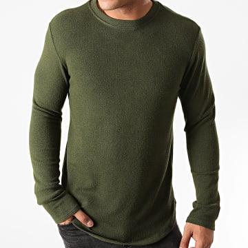 Uniplay - Tee Shirt Manches Longues Oversize T706 Vert Kaki