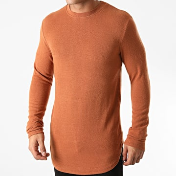 Uniplay - Tee Shirt Manches Longues Oversize T706 Camel