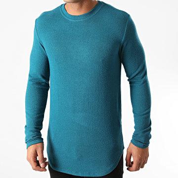 Uniplay - Tee Shirt Manches Longues Oversize T706 Bleu Pétrole