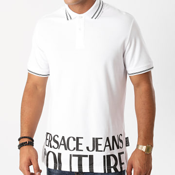 Versace Jeans Couture - Polo Manches Courtes B3GZB7T5-36571 Blanc