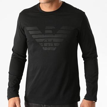 Emporio Armani - Tee Shirt Manches Longues Organic 111287 Noir