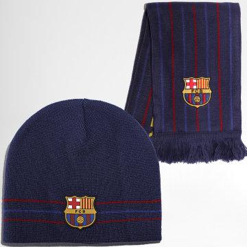 FC Barcelona - Coffret Bonnet Et Echarpe B20023 Bleu Marine