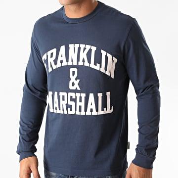 Franklin And Marshall - Tee Shirt Manches Longues JM3010-1000P01 Bleu Marine