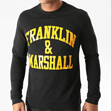Franklin And Marshall - Tee Shirt Manches Longues JM3010-1000P01 Noir