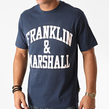 Franklin And Marshall - Tee Shirt JM3011-1000P01 Bleu Marine