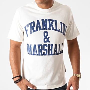 Franklin And Marshall - Tee Shirt JM3011-1000P01 Ecru