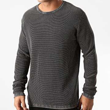 Indicode Jeans - Pull Amherst Noir Gris