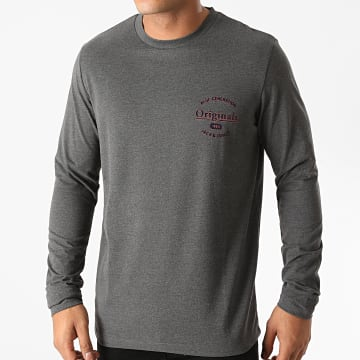 Jack And Jones - Tee Shirt Manches Longues Lars Gris Anthracite Chiné