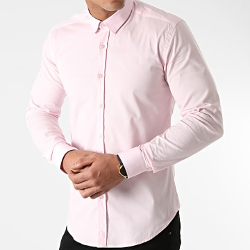 LBO - Chemise Manches Longues Slim Fit 1420 Rose Pale