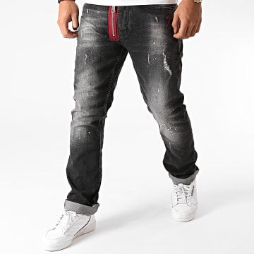 Mackten - Jean Skinny F-P045 Gris Anthracite