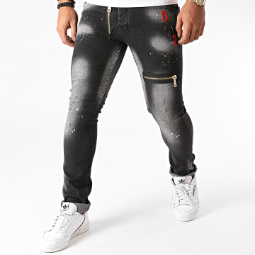 Mackten - Jean Skinny F-P043 Gris Anthracite