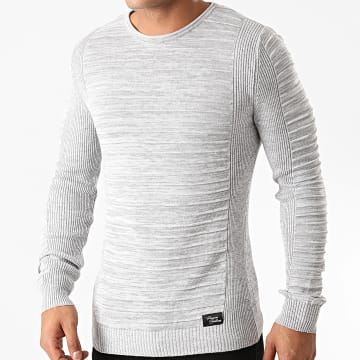 Paname Brothers - Pull PNM-207 Gris Chiné