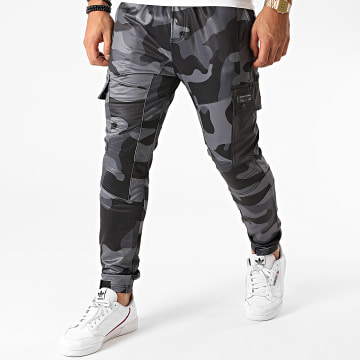Project X - Pantalon Cargo Camouflage Gris Anthracite
