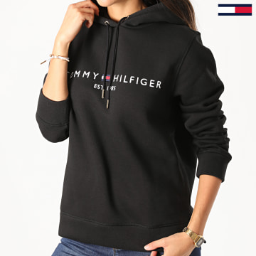 Tommy Hilfiger - Sweat Capuche Femme Essential 6410 Noir