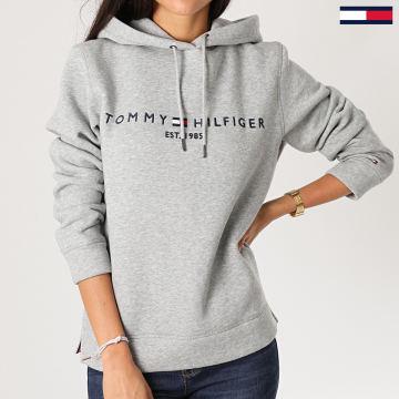 Tommy Hilfiger - Sweat Capuche Femme Essential 6410 Gris Chiné