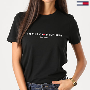 Tommy Hilfiger - Tee Shirt Femme Essential 8681 Noir