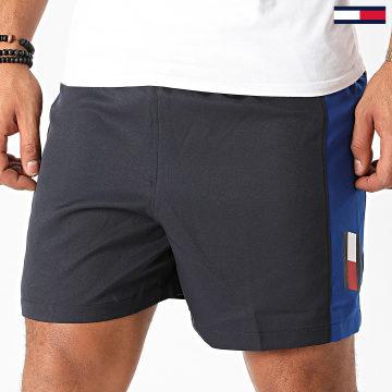 Tommy Sport - Short Jogging A Bandes Blocked 0603 Bleu Marine