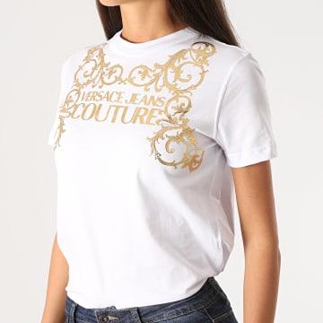 Versace Jeans Couture - Tee Shirt Femme Renaissance B2HZB7TA-30319 Blanc Doré