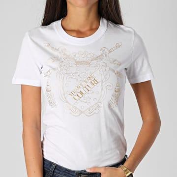 Versace Jeans Couture - Tee Shirt Femme B2HZB7TF-30319 Blanc Doré