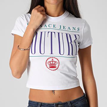 Versace Jeans Couture - Tee Shirt Femme Crop B2HZB7VE-30341 Blanc