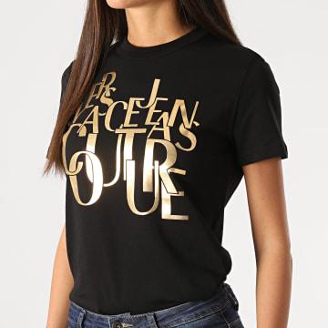 Versace Jeans Couture - Tee Shirt Femme B2HZB7TC-30319 Noir Doré
