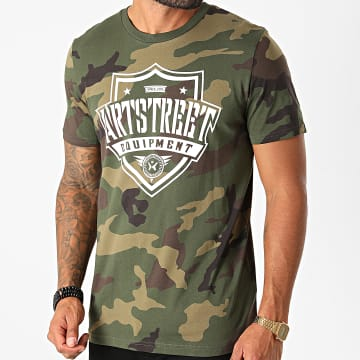 ArtStreet Equipment - Tee Shirt Logo Camouflage Vert Kaki