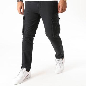 Calvin Klein - Pantalon Cargo Skinny Washed Peache 6491 Bleu Marine