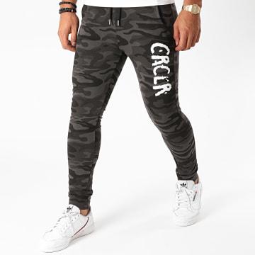 C'est Rien C'est La Rue - Pantalon Jogging New Logo Camouflage Noir
