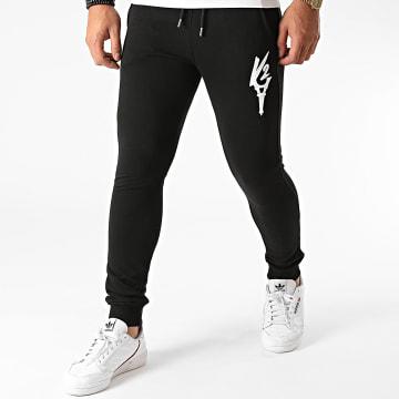 Da Uzi - Pantalon Jogging Logo Noir Blanc