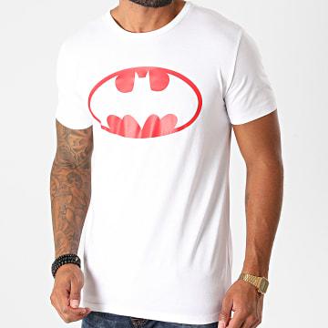 DC Comics - Tee Shirt Batman Logo Blanc Rouge