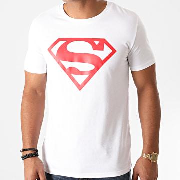 DC Comics - Tee Shirt Superman Logo Blanc Rouge