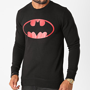 DC Comics - Sweat Crewneck Batman Logo Noir Rouge