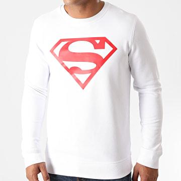 DC Comics - Sweat Crewneck Superman Logo Blanc Rouge