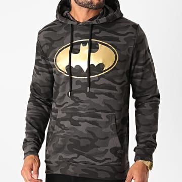 DC Comics - Sweat Capuche Batman Logo Camouflage Noir Doré
