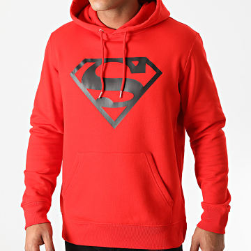 DC Comics - Sweat Capuche Superman Logo Rouge Noir