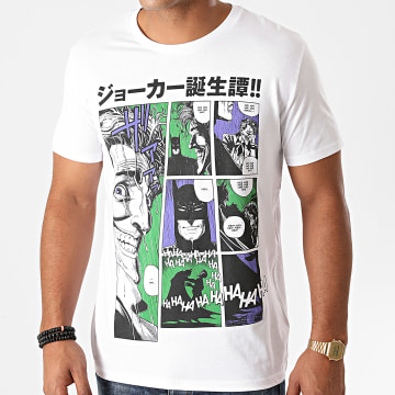 DC Comics - Tee Shirt Joker Comics Blanc