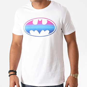 DC Comics - Tee Shirt Batman Gradient Logo Blanc