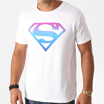 DC Comics - Tee Shirt Superman Gradient Logo Blanc
