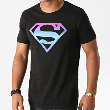 DC Comics - Tee Shirt Superman Gradient Logo Noir