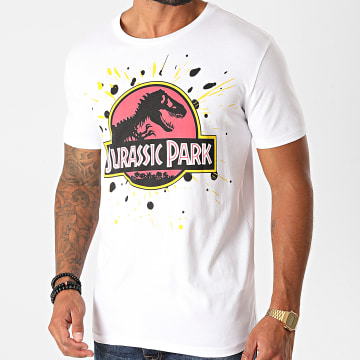 Jurassic Park - Tee Shirt Splatter Blanc