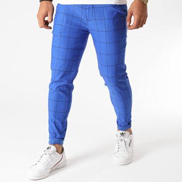 Frilivin - Pantalon A Carreaux 1719 Bleu Roi