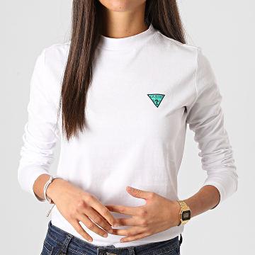 Guess - Tee Shirt Manches Longues Femme W0BI52I3Z11 Blanc