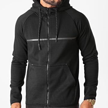 Indicode Jeans - Sweat Zippé Capuche 55-345 Noir