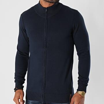 Indicode Jeans - Pull Zippé Ancona Bleu Marine