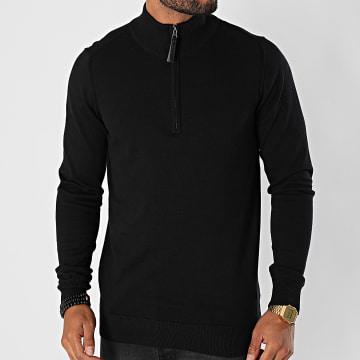 Indicode Jeans - Pull Zippé Ancona Noir