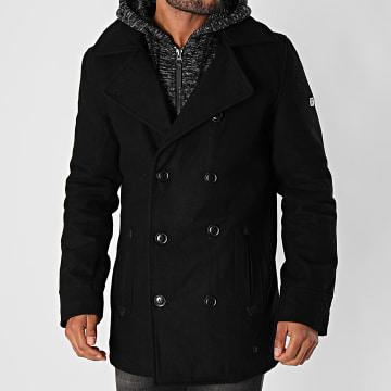 Indicode Jeans - Manteau Capuche Clifford Noir