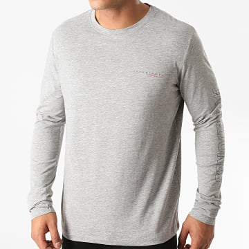 Jack And Jones - Tee Shirt Manches Longues Clayton Gris Chiné