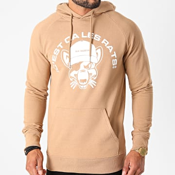 L'Allemand - Sweat Capuche Rats Camel