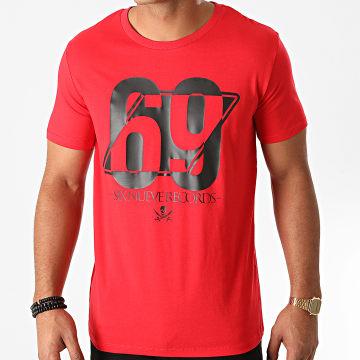 L'Allemand - Tee Shirt 69 Rouge Noir